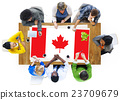 Canada National Flag Business Team Meeting Concept 23709679