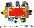 China National Flag Business Team Meeting Concept 23709684