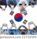 South Korea National Flag Business Communication Connection Concept 23710305