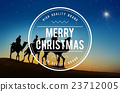 Merry Christmas Christianity Holiday Winter Religion Concept 23712005