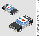 Isometric police car 23713253