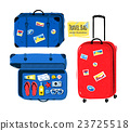 Set of travel bag and suitcases 23725518