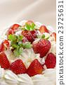 西式甜点 草莓蛋糕 蛋糕 23725631