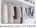 black and white color tone clothes in wardrobe 23733640