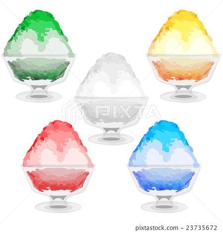 刨冰 冰 玻璃 23735672