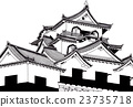 Hikone Castle 【Hand drawn】 23735718