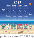 Calendar 2017 Year One Sheet, Vector 23738214