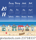 Calendar 2017 Year One Sheet, Vector  23738337