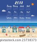 Calendar 2017 Year One Sheet, Vector  23738373