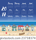 Calendar 2017 Year One Sheet, Vector  23738374