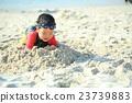 海滩 儿童 孩子 23739883