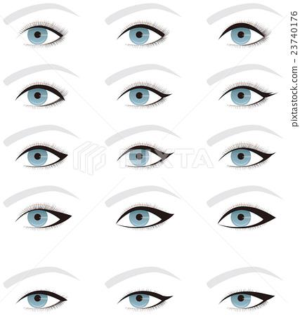 Eye Make eye line shape Single eyelid and double eyelid - Stock