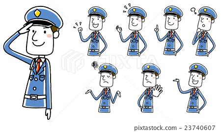男性保安:姿勢變化 23740607