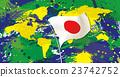 แผนที่โลกสีของบราซิลและฮิโนมามารุ 23742752