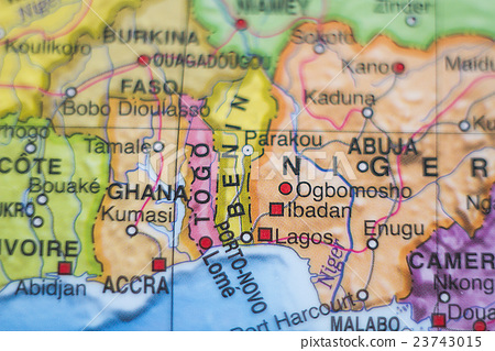 Togo country map . 23743015