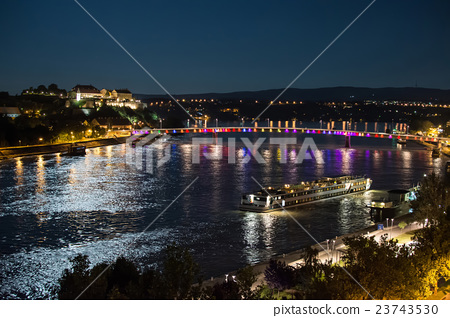 "Fortress and ""Rainbow bridge"" Over the Danube 23743530"