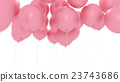 Pink balloons isolated on white 23743686