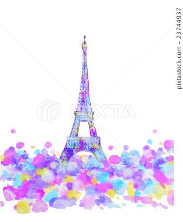 Eiffel Tower Purple 23744937