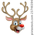 Cartoon Christmas Reindeer 23746394