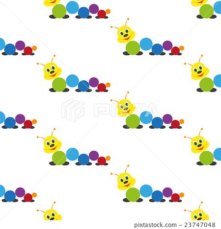 Caterpillar. Baby toy. Pattern. 23747048