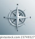 3d wind rose vector illustration. 23749327
