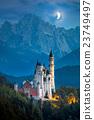 Famous Neuschwanstein Castle at night  23749497