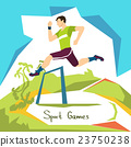 Hurdle Race Running Athlete Sport Competition 23750238