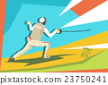 Fencing Athlete Fencer Sport Competition 23750241