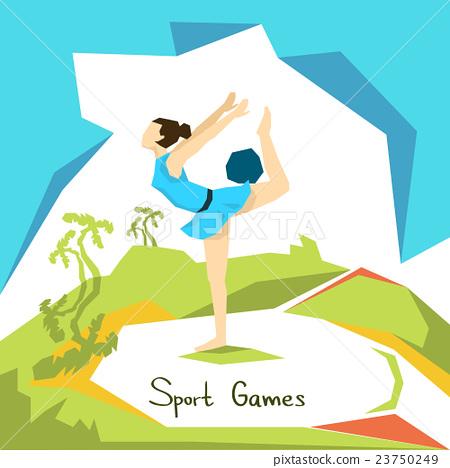 Artistic Gymnastics Girl Athlete Sport Competition 23750249