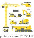 Flat design construction truck set 23753412