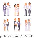 vector, wedding, gay 23755881