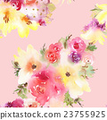 Roses and lilies seamless pattern. 23755925
