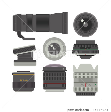 Photo optic lenses vector set. 23756923