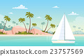 Summer Vacation Yacht Sail Sea Shore Sand Beach 23757569