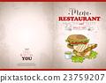 벡터, 레스토랑, 샌드위치 23759207