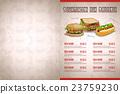벡터, 레스토랑, 샌드위치 23759230