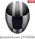 Black motorcycle helmet with strip 23759496