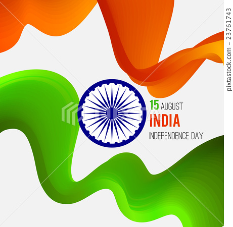 Indian Independence Day concept background with 23761743