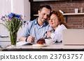 man, notebook, couple 23763757