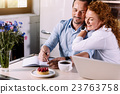 woman, couple, notebook 23763758