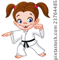 karate, girl, vector 23764485