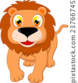 Cute Lion cartoon 23766745