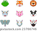 Cute Animal Head Icon 23766746