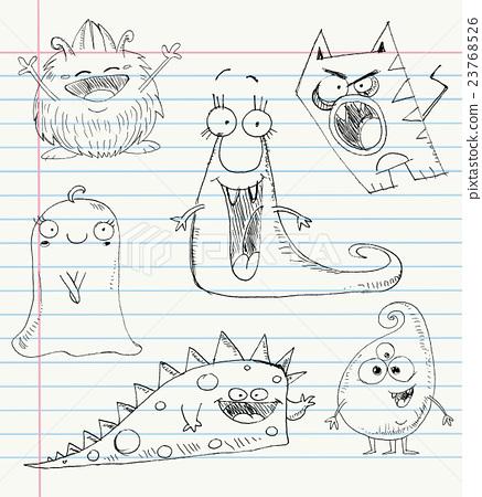 Monster doodles set 1 23768526