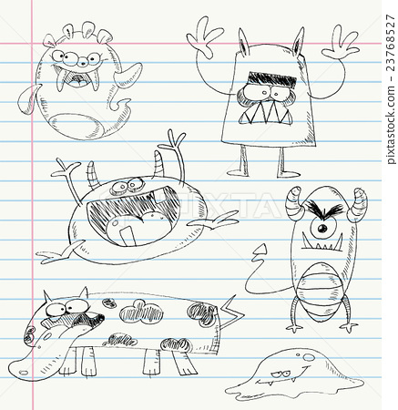 Monster doodles set 2 23768527