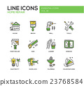 Home repair line design icons set 23768584
