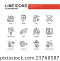 Home repair line design icons set 23768587