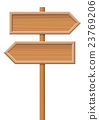 Wooden Sign Posts Two Directions 23769206