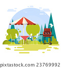 Summer Picnic Outdoors Barbecue Grill Party 23769992