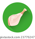 Whole Chicken Fresh Food Icon 23770247
